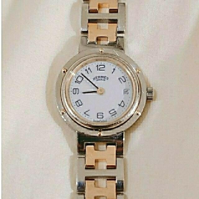 Hermes(エルメス)のエルメス クリッパー 時計 レディース アンティーク レディースのファッション小物(腕時計)の商品写真