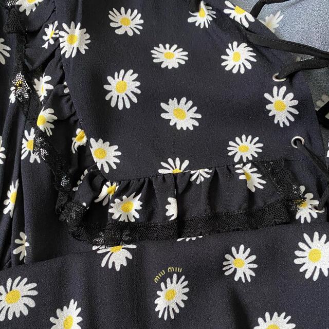 miumiu(ミュウミュウ)のmiumiu 36 デイジー ワンピース 花柄ワンピ レディースのワンピース(ひざ丈ワンピース)の商品写真
