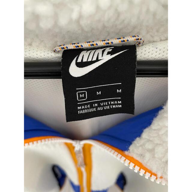 NIKE(ナイキ)の限定 レア NIKE ナイキ ボアジャケット オーバーサイズ ブルー ホワイト メンズのジャケット/アウター(ブルゾン)の商品写真
