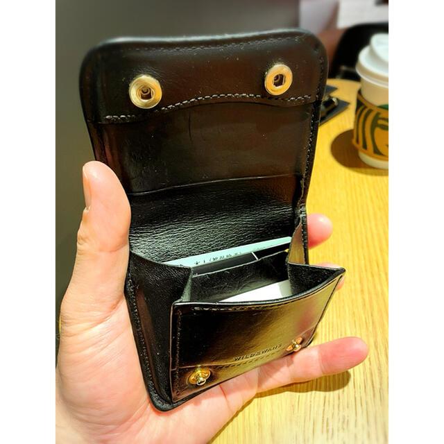 WHITEHOUSE COX(ホワイトハウスコックス)のWILDSWANS PALM ワイルドスワンズ パーム ブラック メンズのファッション小物(折り財布)の商品写真
