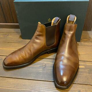 Crockett&Jones - クロケット&ジョーンズ サイドゴアブーツ チェルシー 防水 革靴 メンズ