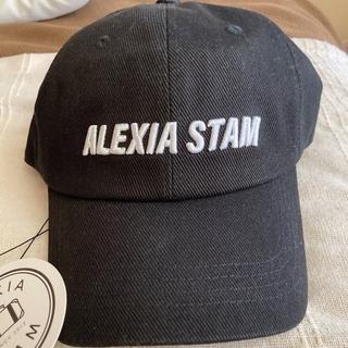 アリシアスタン(ALEXIA STAM)の値下げ❗️新作✨ キャプ 新品未使用✨ALEXIA STAM✨新品タグ付帽子(キャップ)