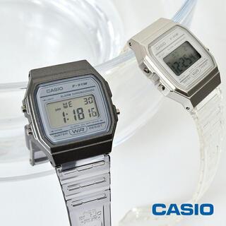 カシオ(CASIO)のCASIO F-91WS クリアウォッチ グレー(腕時計(デジタル))