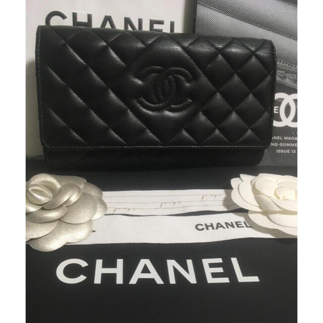 CHANEL(シャネル)のブリトニー様専用♡超美品 ♡ シャネル ダイヤモンド CC 長財布 正規品 レディースのファッション小物(財布)の商品写真