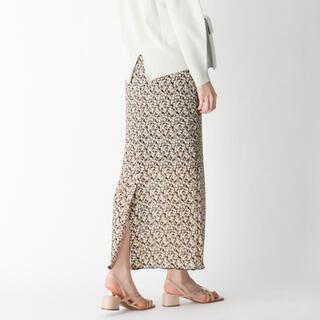 オペークドットクリップ(OPAQUE.CLIP)の【新品】フラワープリーツスカート(ロングスカート)