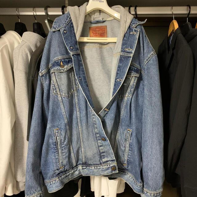 Balenciaga(バレンシアガ)のvetements デニムジャケット Sサイズ メンズのジャケット/アウター(Gジャン/デニムジャケット)の商品写真