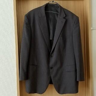 アオヤマ(青山)の洋服の青山 メンズ スーツ ジャケット 黒 ストライプ 4L(スーツジャケット)