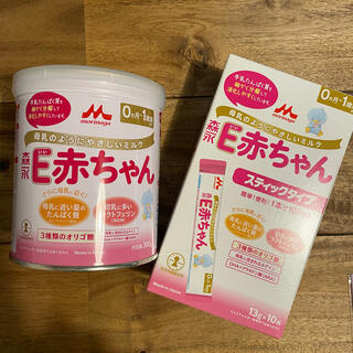 森永乳業 - E赤ちゃん 粉ミルク 300g スティックタイプ セット
