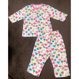 コンビミニ(Combi mini)の新品 コンビミニ アイスクリーム柄パジャマ 綿100%  パンツ 80(パジャマ)