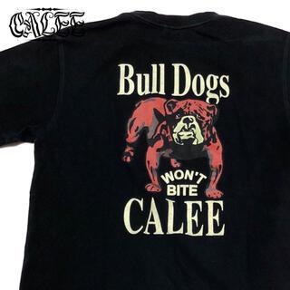 キャリー(CALEE)の*1359 CALEE キャリー ブルドッグ プリント Tシャツ  ポケT(Tシャツ/カットソー(半袖/袖なし))