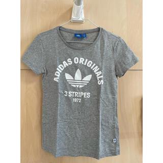 adidas - アディダスオリジナルス グレーTシャツ