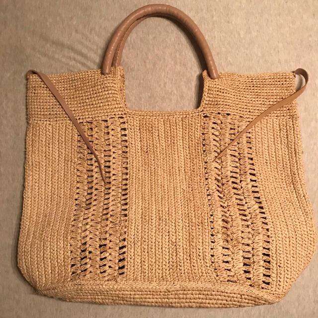 Drawer(ドゥロワー)のa point etc⭐︎アポワン ラフィアトートバッグ⭐︎かごバッグ レディースのバッグ(かごバッグ/ストローバッグ)の商品写真