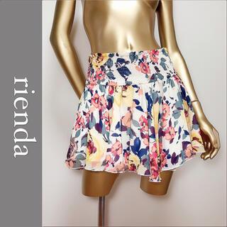 rienda - rienda インナー付き 花柄 スカート*リップサービス セシルマクビー