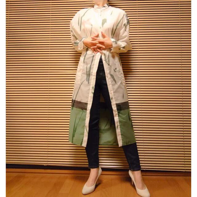 mame(マメ)のmame マメ kasuri 絣 ワンピース  レディースのワンピース(ロングワンピース/マキシワンピース)の商品写真