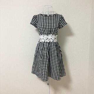 tocco - tocco closet ギンガムチェック 刺繍 ワンピース M