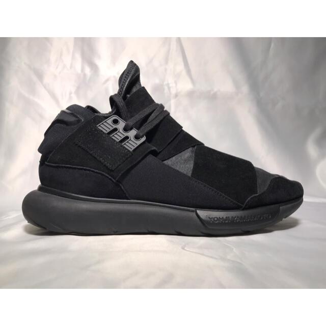 Y-3(ワイスリー)のY-3 QASA HIGH LEATHER BLACK 25.5cm メンズの靴/シューズ(スニーカー)の商品写真