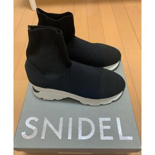 snidel - SNIDEL / スナイデル スニーカーソールショートブーツ 靴 厚底 ブラック