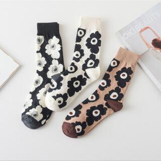 【3足組】安売り かわいい靴下 レディース マリメッコ柄ソックス 北欧