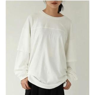 トゥデイフル(TODAYFUL)のCotton Layered Long Tshirts トゥディフル2021ss(Tシャツ(長袖/七分))