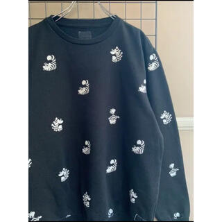 【Disney】スウェット チシャ猫 アリス ブラック 黒 激レア