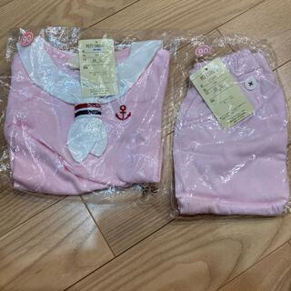 【未使用品】MILKISS マリンセーラー服上下セット90(Tシャツ/カットソー)