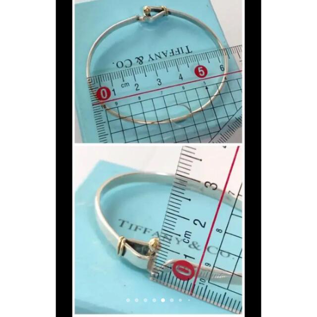 Tiffany & Co.(ティファニー)の美品✨ティファニーブレスレット バングル 指輪 2点 K18 シルバーコンビ レディースのアクセサリー(ブレスレット/バングル)の商品写真