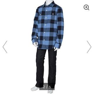 ジーユー(GU)のネルチェックシャツ(ブラウス)