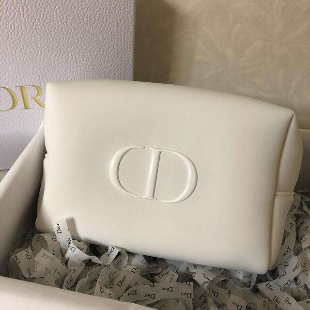 Dior(ディオール)のDior  ディオール ポーチ ノベルティ ホワイト 大サイズ レディースのファッション小物(ポーチ)の商品写真