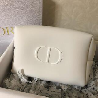 Dior - Dior  ディオール ポーチ ノベルティ ホワイト 大サイズ