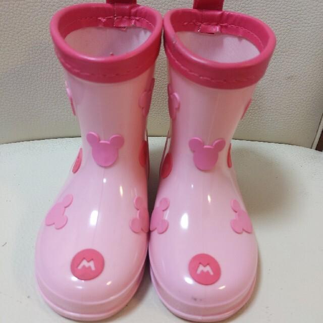 Disney(ディズニー)のディズニー ミッキー レインブーツ レインシューズ 14センチ キッズ/ベビー/マタニティのベビー靴/シューズ(~14cm)(長靴/レインシューズ)の商品写真