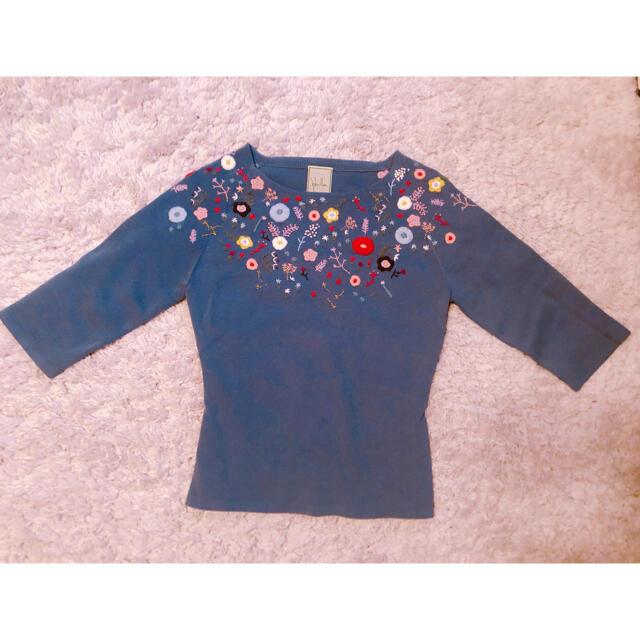 Sybilla(シビラ)のシビラ 花柄刺繍トップス レディースのトップス(ニット/セーター)の商品写真