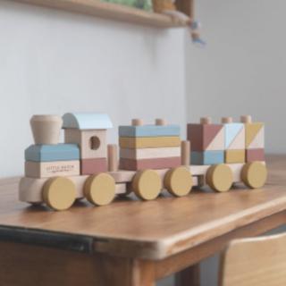 ボーネルンド(BorneLund)のLITTLE DUTCH リトルダッチ 汽車 トレインブロック つみき(電車のおもちゃ/車)