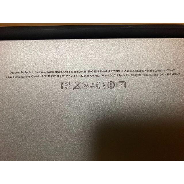 Apple(アップル)のApple MacBook Air 2012 11インチ スマホ/家電/カメラのPC/タブレット(ノートPC)の商品写真