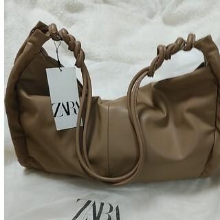 ZARA - ZARA ギャザーサイドディティールトートバック