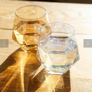 スリーコインズ(3COINS)のmii様専用 3コインズ オンライン限定六角グラス2つ🥂✨✨(グラス/カップ)