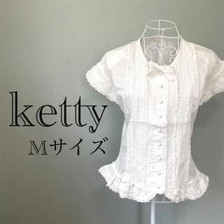 ケティ(ketty)のketty フリルリボンブラウス 姫系(シャツ/ブラウス(半袖/袖なし))