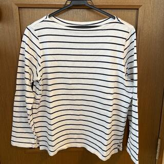 ユニクロ(UNIQLO)のUNIQLO ユニクロ ボーダー Tシャツ 長袖    L(Tシャツ(長袖/七分))