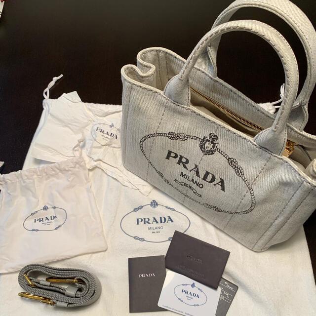 PRADA(プラダ)の美品  PRADA カナパ ビアンコ レディースのバッグ(ショルダーバッグ)の商品写真