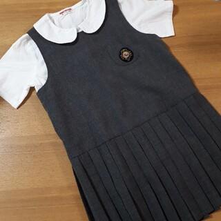 ミキハウス(mikihouse)のミキハウス 110 ワンピース 半袖 ブラウス セレモニー レトロ レア(ドレス/フォーマル)