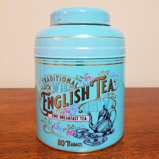 ミントグリーン ヴィンテージヴィクトリア紅茶缶 ニューイングリッシュティーズ(茶)