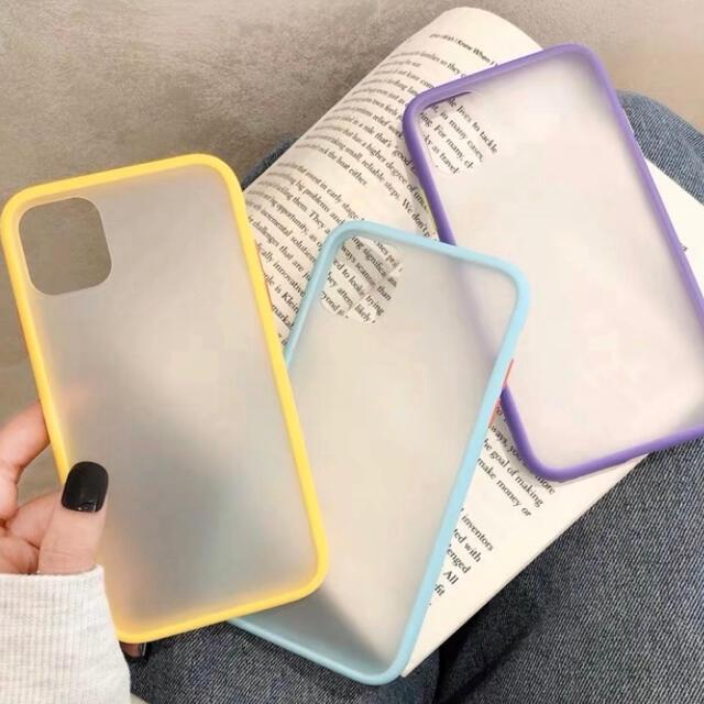 【iPhone11pro/イエロー】パステルが可愛い♡半透明iPhoneケース スマホ/家電/カメラのスマホアクセサリー(iPhoneケース)の商品写真