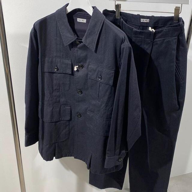 COMOLI(コモリ)のラキネス rakines コットンギャバ セットアップ 新品 21ss メンズのジャケット/アウター(ミリタリージャケット)の商品写真