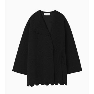 mame - mame  scallop cut knitted jacket ニット