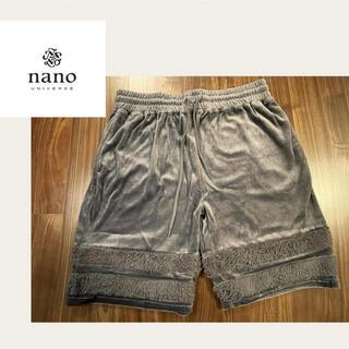 ナノユニバース(nano・universe)の《新品》nano BASE ショートパンツ グレー M(ショートパンツ)