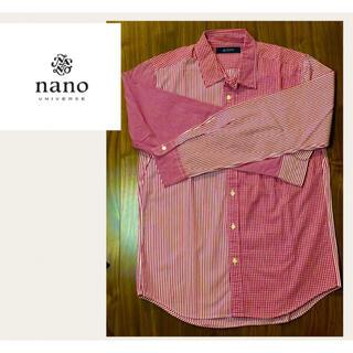 ナノユニバース(nano・universe)の[nano BASE] チェックシャツ M レッド メンズ(シャツ)