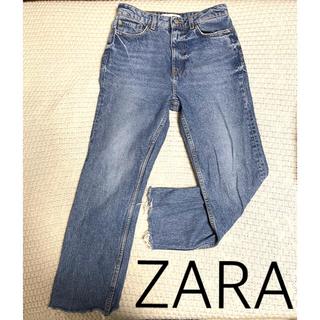 ZARA - 【ZARA】ハイウエスト ストレートジーンズ