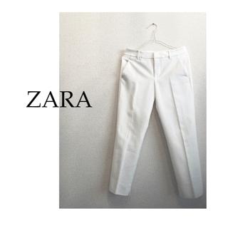ZARA - 【Allシーズン】ZARA ザラ テーパード パンツ 白