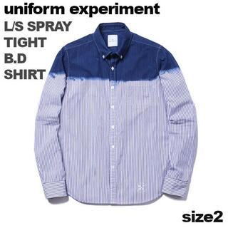 ユニフォームエクスペリメント(uniform experiment)のuniform experiment☆スプレー・ストライプ青染めBDシャツ2(シャツ)