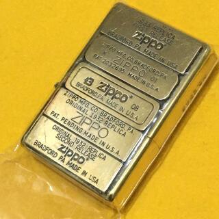 ジッポー(ZIPPO)のZIPPO 限定ボトムプレート SOLIDBRASS ゴールド 4面ボトム(タバコグッズ)