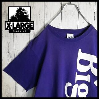 エクストララージ(XLARGE)の【希少デザイン】XLARGE ビッグプリント×ミニマムロゴ クルーネックTシャツ(Tシャツ/カットソー(半袖/袖なし))
